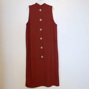 ZARA TRAFALUC Mock Neck Sleeveless Dress